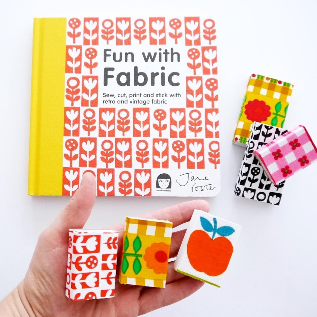 Make sweet little covered match boxes using a project from my Fun With Fabric book! My daughter keeps her jewellery and sea glass in these.