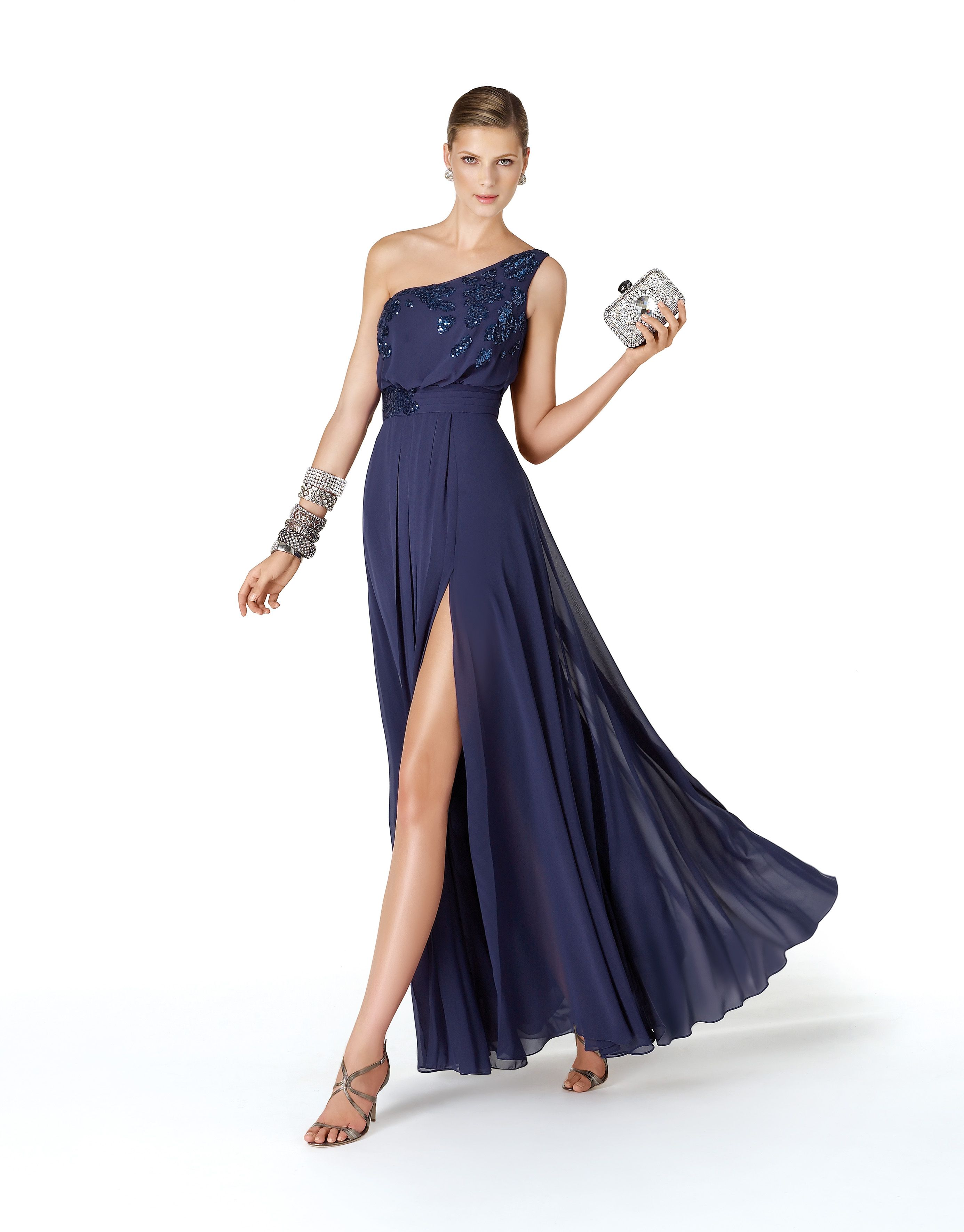 Vestido cocktail azul marino