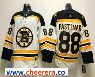 Men s Boston Bruins  88 David Pastrnak White 2017-2018 Hockey Stitched NHL  Jersey 4daaa57fc
