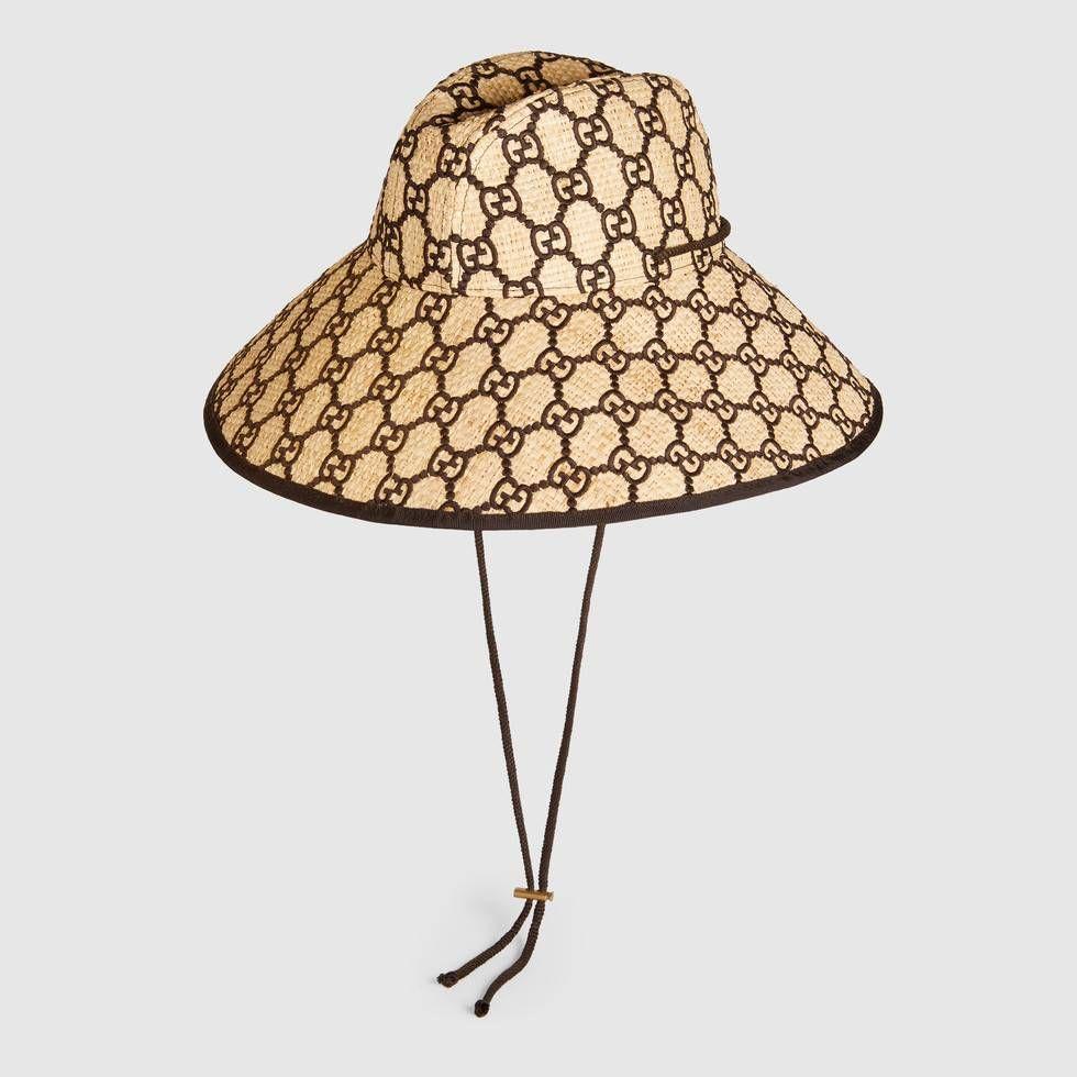14d3075132 Gucci GG raffia wide brim hat in 2019 | IT'S ALL ABOUT GUCCI! | Hats ...