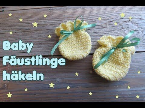 YouTube, Baby Fäustlinge häkeln, Baby Handschuhe häkeln | dla ...