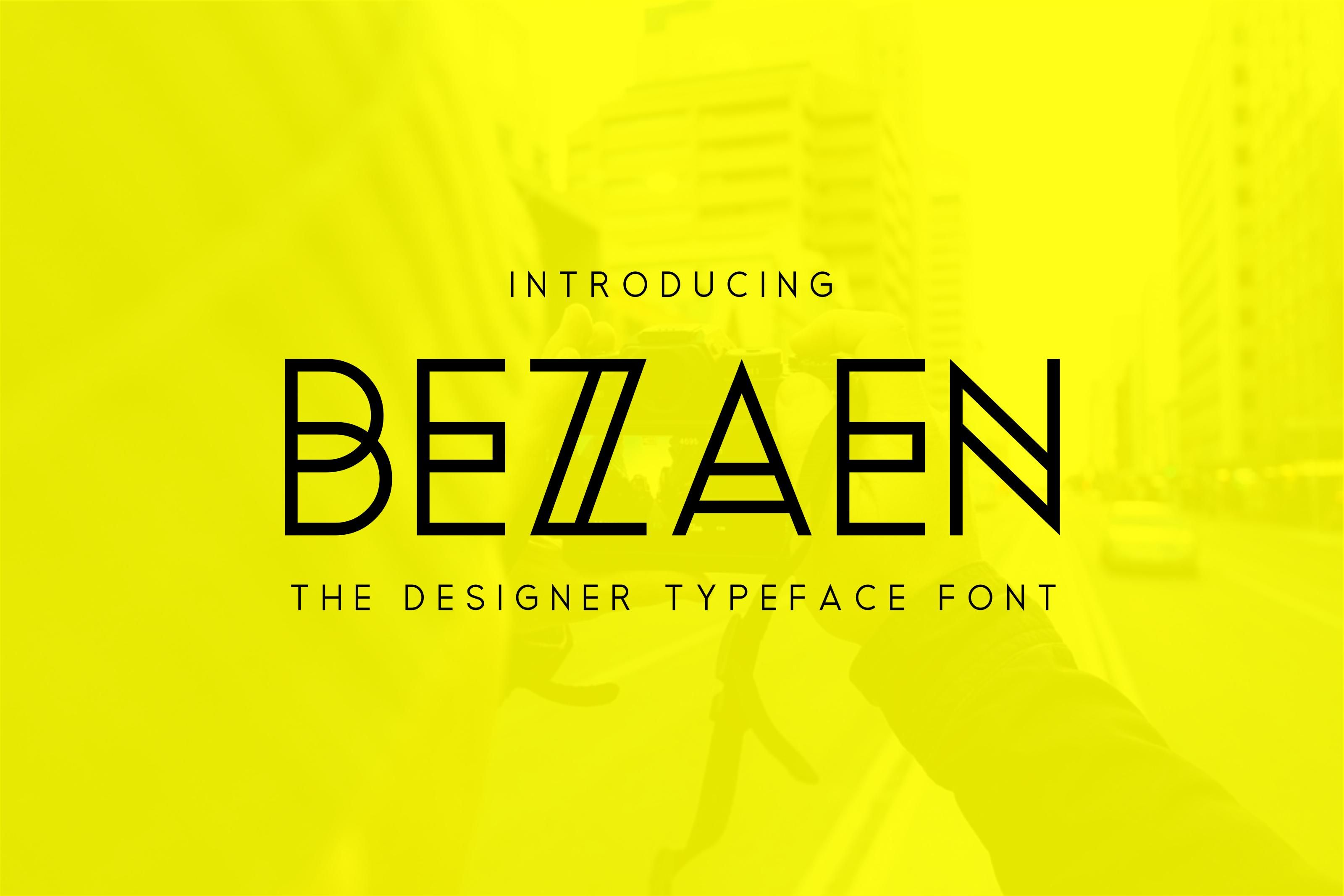 Bezaen Typeface Clean ,minimalist and awesome character