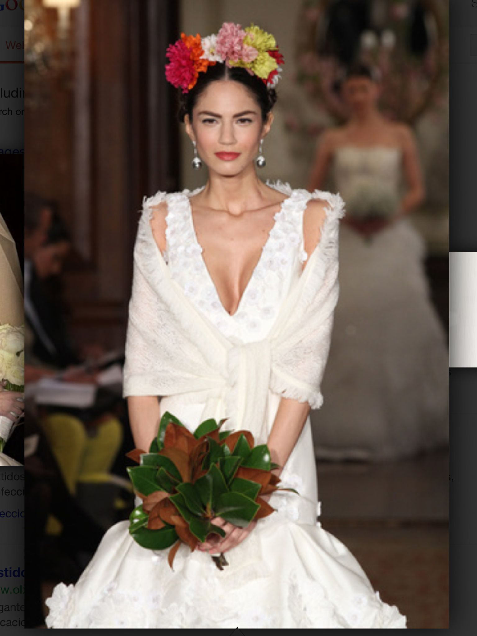 Mexican Style Wedding Dress Inspired By Frida Kahlo