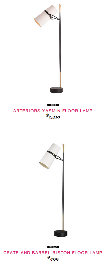 Arteriors Yasmin Floor Lamp $1,410  Vs  Crate And Barrel Riston Floor Lamp  $499