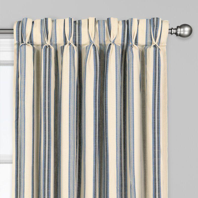 Ceya Striped Room Darkening Pinch Pleat Single Curtain Panel Panel Curtains Pinch Pleat Curtains Curtains