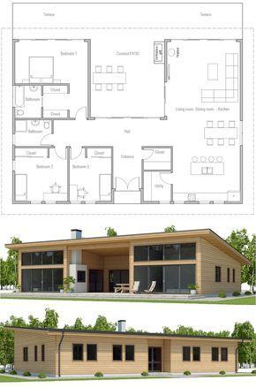Floor Plan Plan maison, Plans de maison conteneur