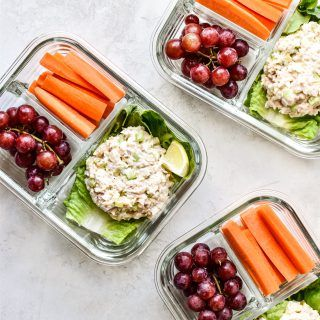 Low Carb Tuna Salad Lettuce Wraps Meal Prep images