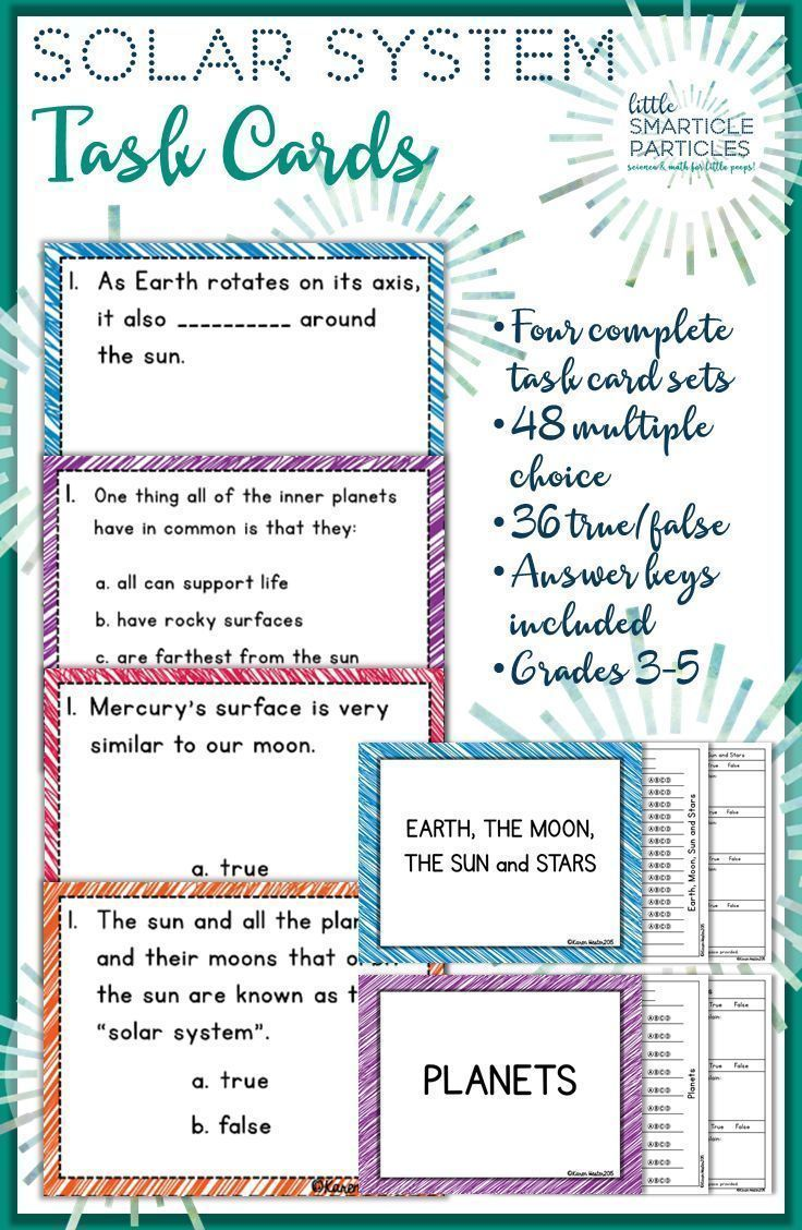 Solar System Task Cards: Science Scoot \'ems