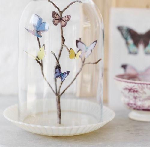 Centro de mesa con mariposas para 15 años | Manualidades de hogar ...