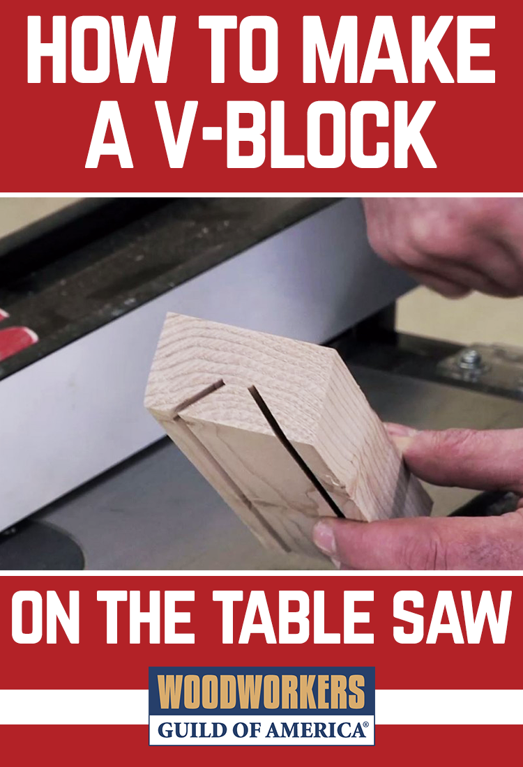 How To Make A V Block On The Table Saw Woodworking Video Table