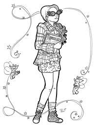 Luna Lovegood From Movie Luna Lovegood Coloring Pages Ravenclaw