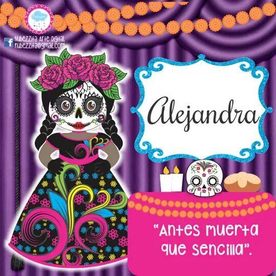 Pin De Ale Bazan En Ale Marcos Dia De Muertos Calaveras Con Nombres Catrinas Imagenes
