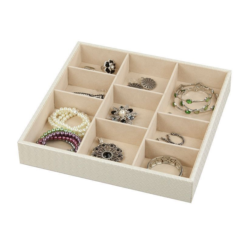 Home Basics 9 Compartment Jewelry Organizer Black Products
