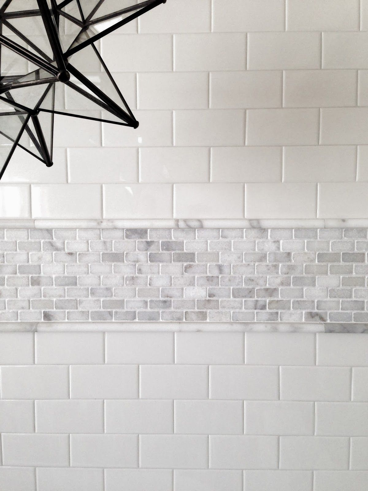 Greige interior design ideas and inspiration for the transitional used this as trim inside my shower with the marbled pencil trim i used carrara porcelain tile dont be afraid of mixing materials dailygadgetfo Choice Image
