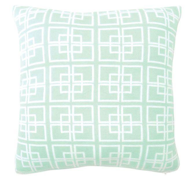 DG37 Delta Knit 50x50cm Filled Cushion Mint
