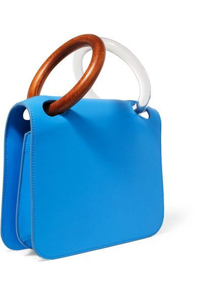 Bright Blue Leather Calf Snap Fastening Front Flap Designer Color Nicoll Weighs Roximately 2 9lbs 1 3kg Made In Italy