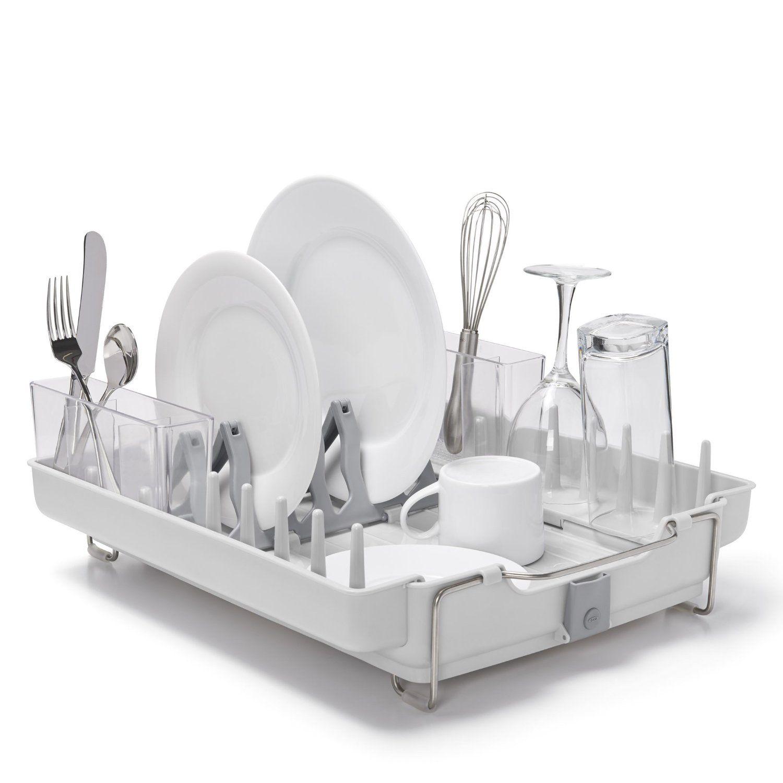 OXO Good Grips Foldaway Dish Rack   Grey
