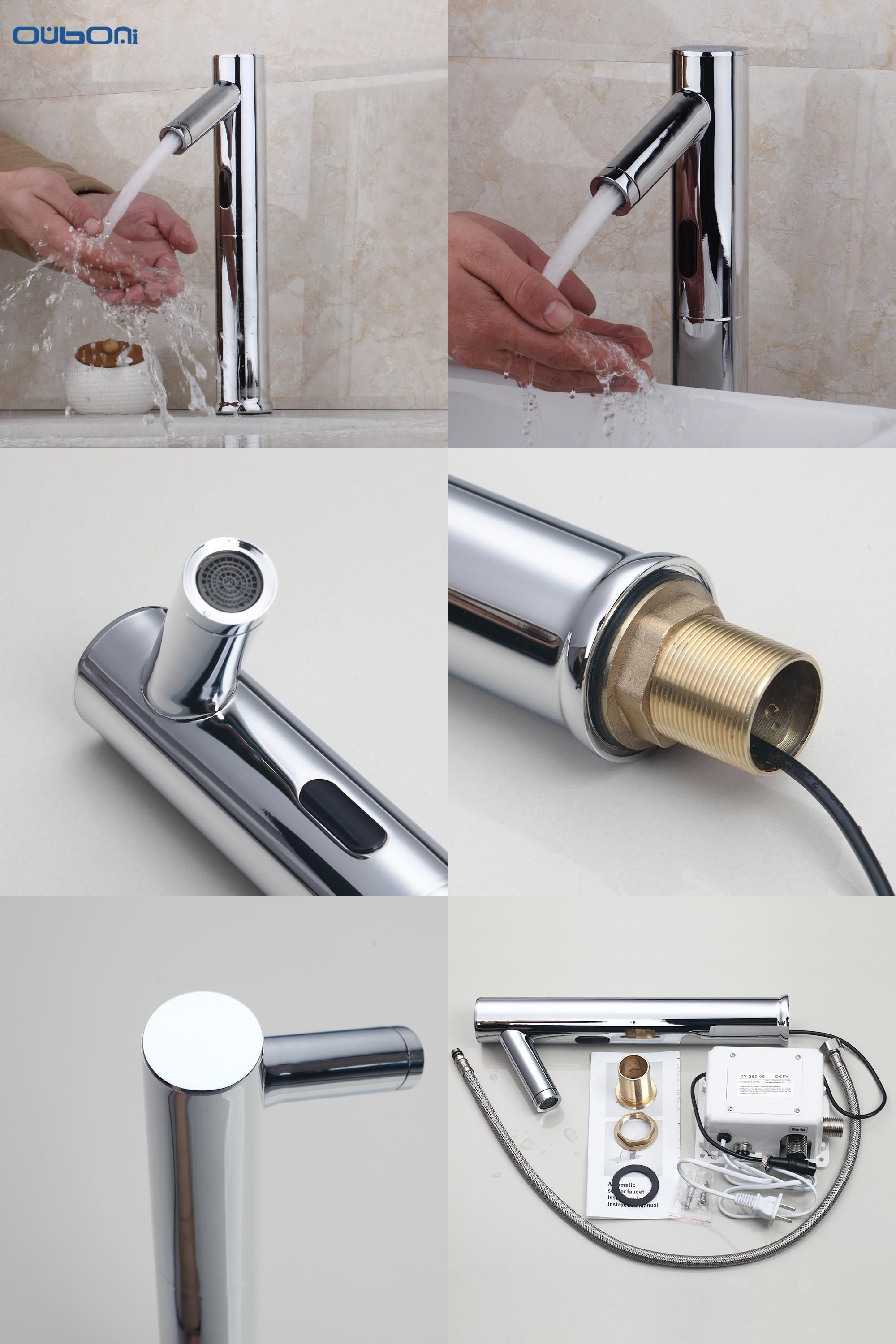 Visit to Buy] New Brass Bathroom Automatic Sensor Mixer Touch Free ...
