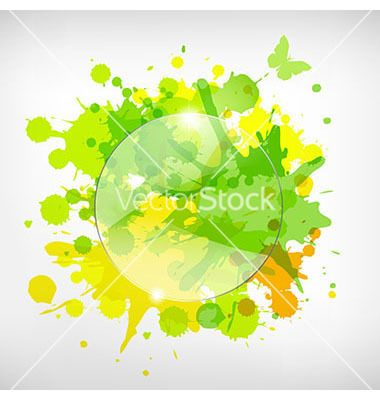 Advertising glass board with color blots vector - by barbaliss on VectorStock®