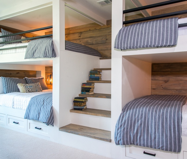 Fixer Upper Favorites Big Country House Bunk beds built