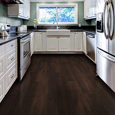 Allure Locking Vinyl Plank Flooring   Espresso Oak