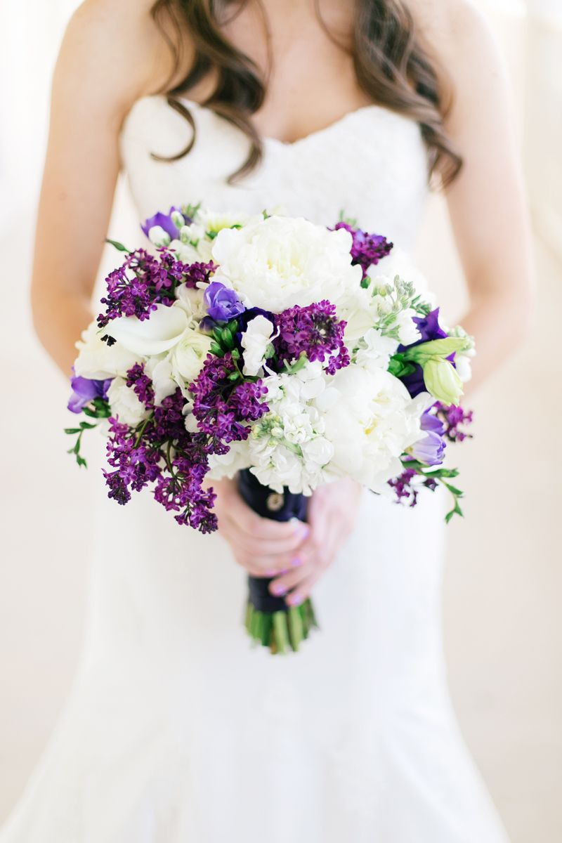 A classic southern purple and gray texas wedding purple