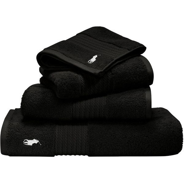 Ralph Lauren Bath Sheet Enchanting Ralph Lauren Home Player Towel  Black  Bath Sheet $99 ❤ Liked Inspiration Design