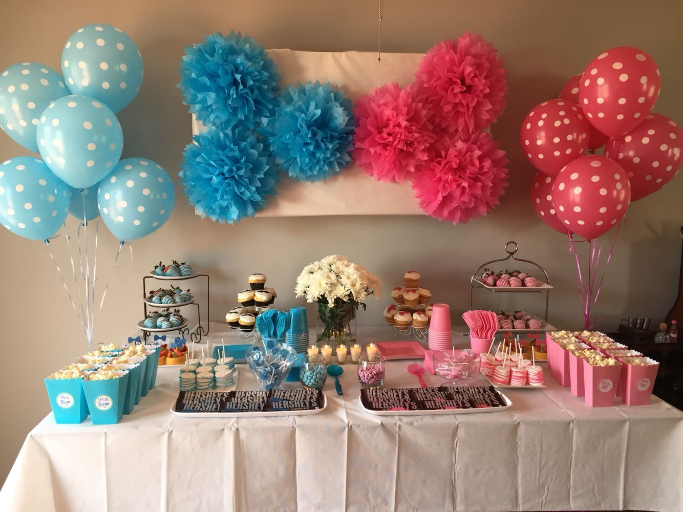 10 Gender Reveal Party Food Ideas That Are Mouth Watering Gender Reveal Party Fo Gender Reveal Party Food Gender Reveal Party Decorations Baby Reveal Party