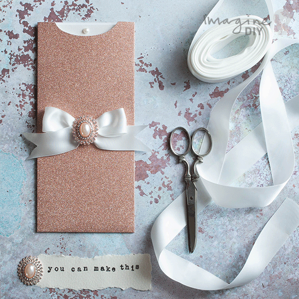 How To Make Striking Glittery Wallet Invitations