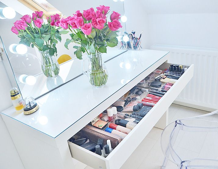 Makeup Storage Ideas Ikea Makeup Vanity Makeup Vanity