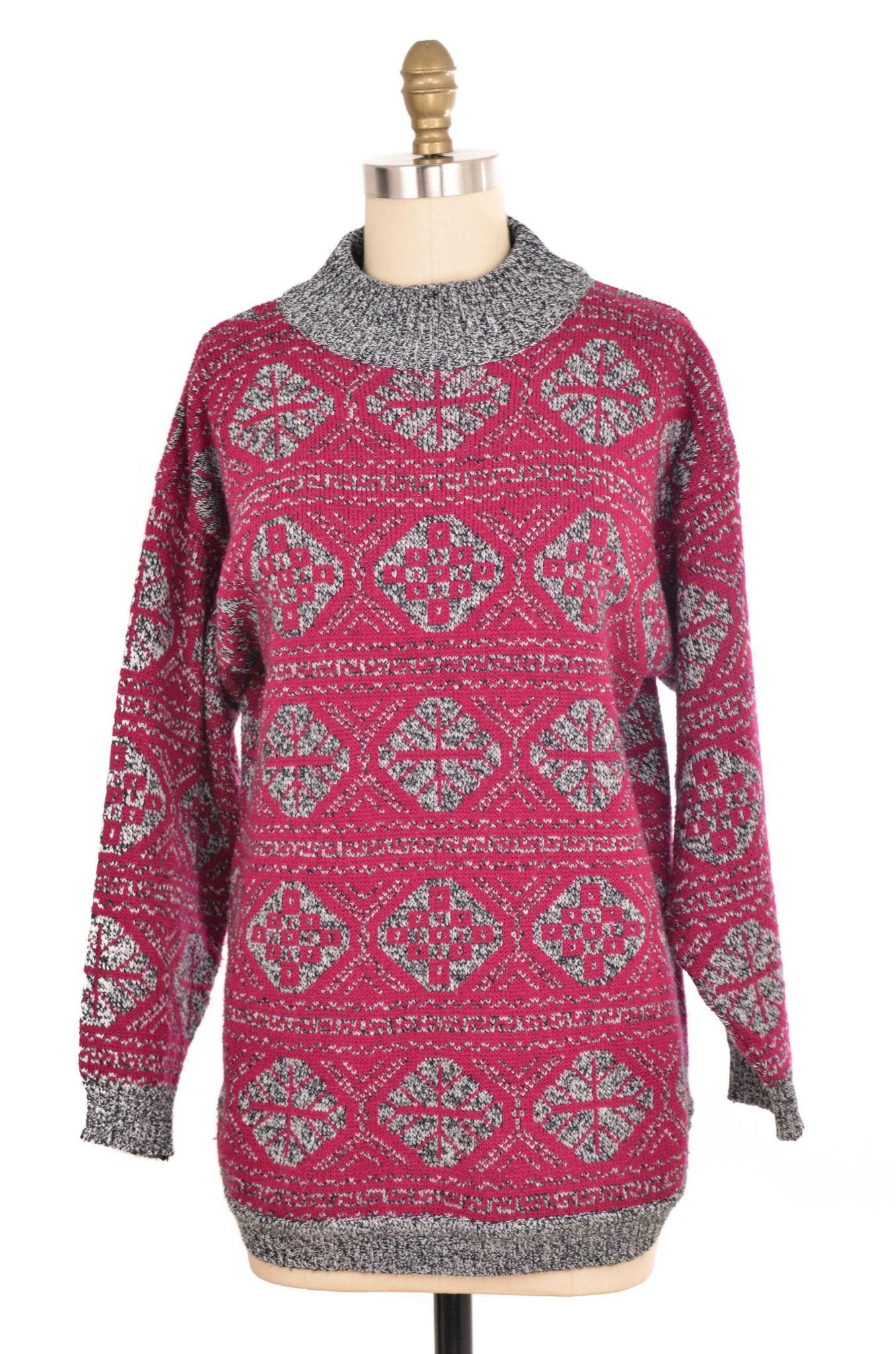 80s Purple Batwing Chunky Knit Long Cardigan Duster Sweater Size M | Sweaters, Cardigan, Knit