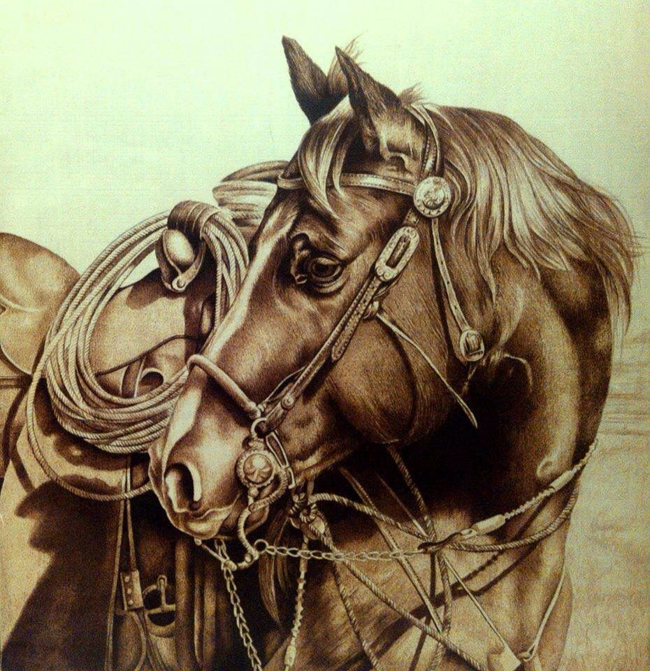 Terrific Burn Wood Burning Art Pyrography Art Horses