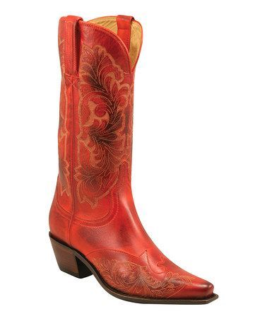 Photo of Lipstick Red Cowboy Boot – Women by Lucchese on #zulily. I had a pair when I was…