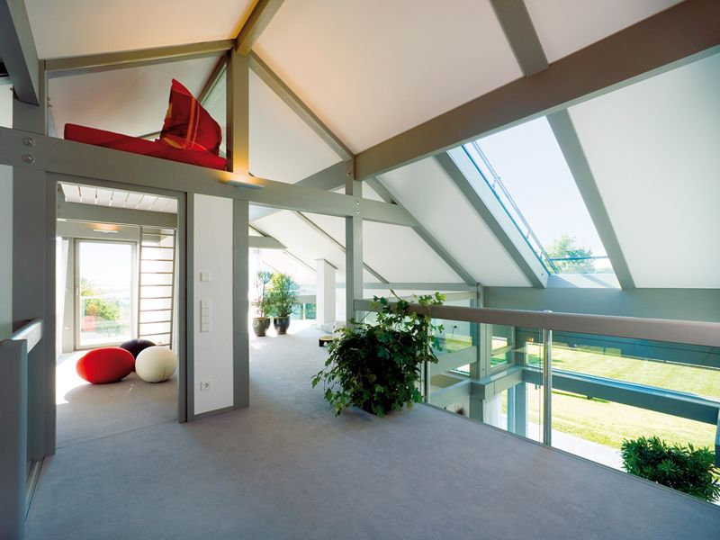 Modern Post And Beam Architecture by HUF HAUS Huf, Haus and Beams - home office mit ausblick design bilder