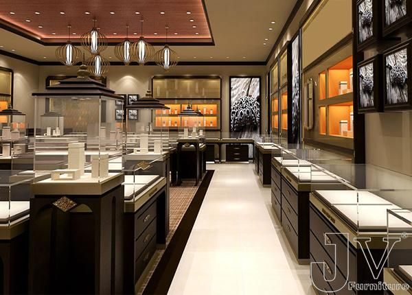 Luxury Jewelry Display Cabinets For Shop Manufacturers Of