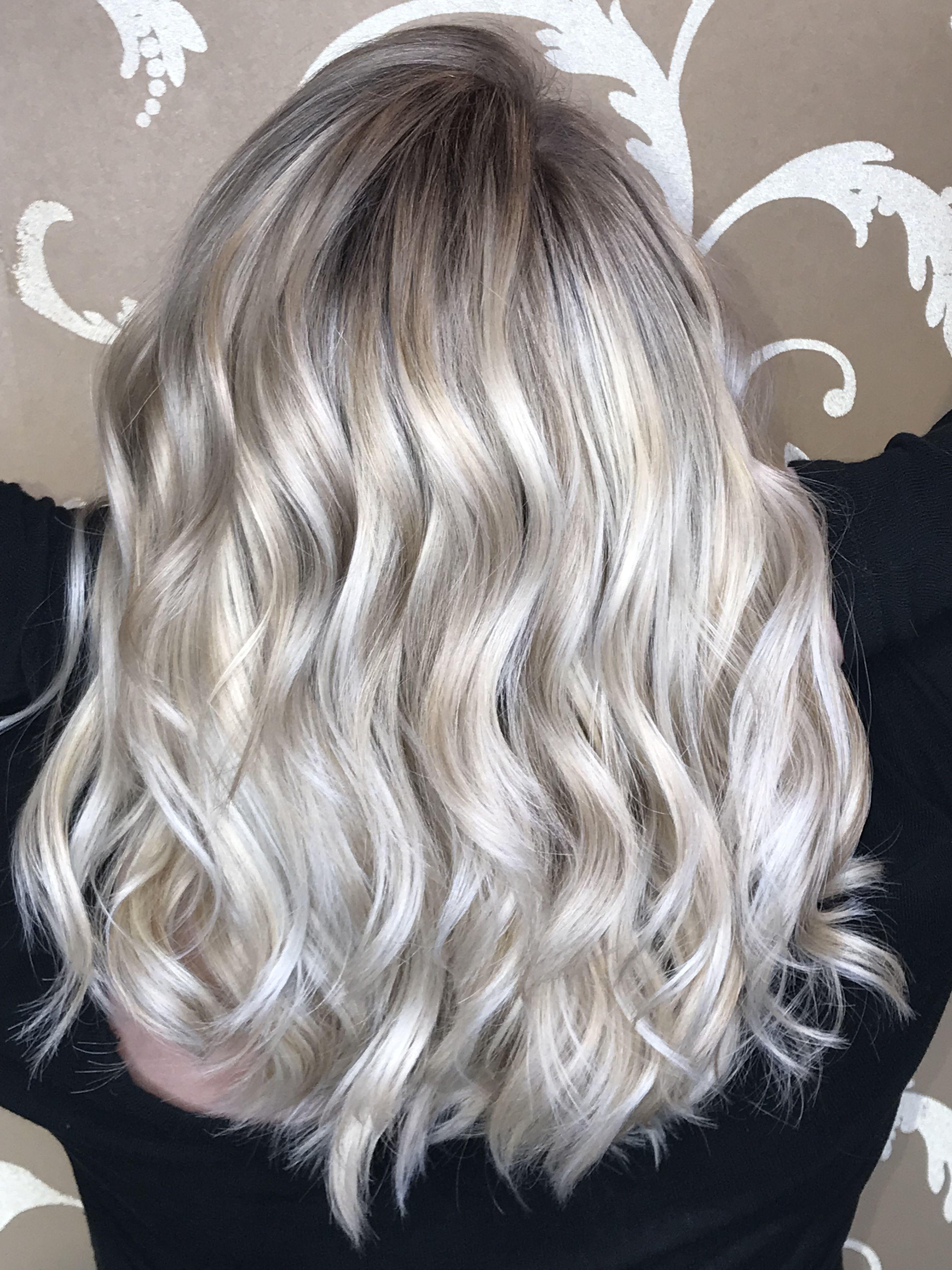 White Icy Blonde Balayage Icy