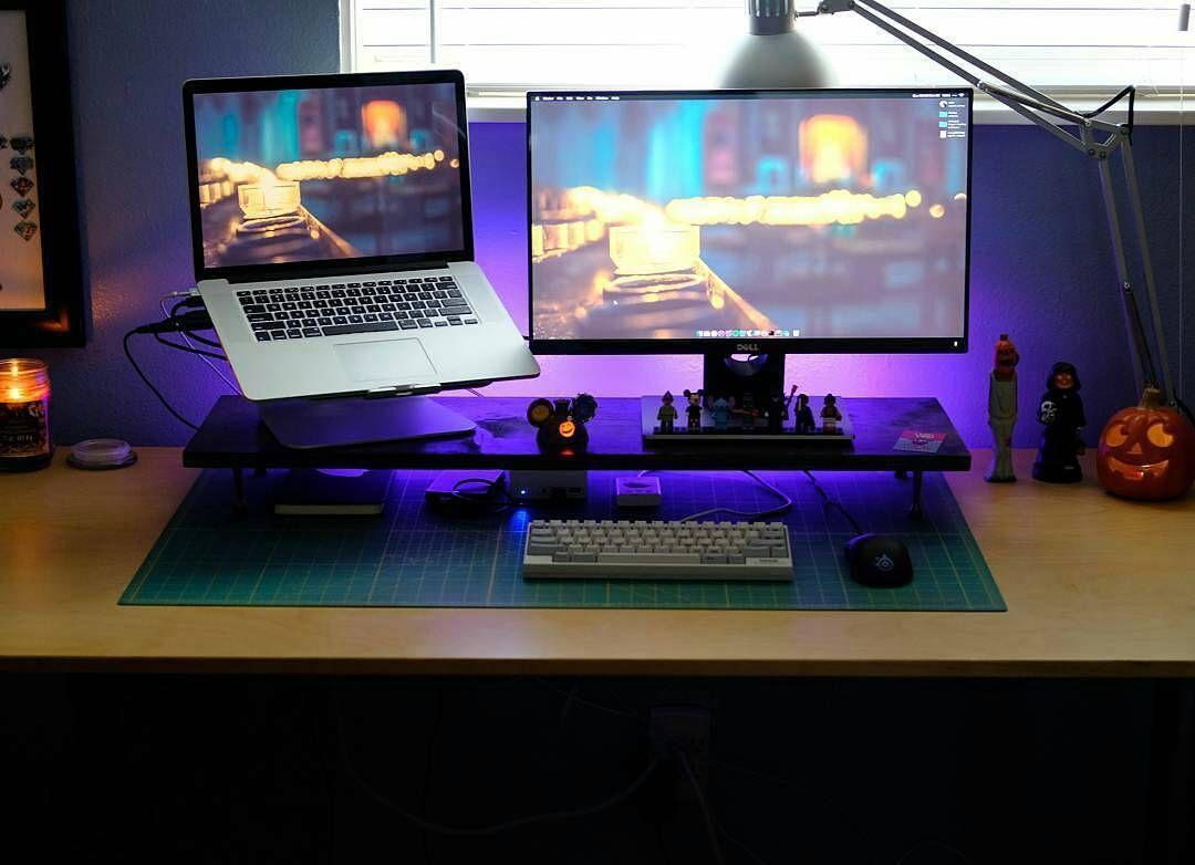 Awesome setup! Photo: @setuptour_ Colourful productivity