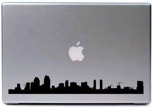San Diego City Skyline Decal Sticker Laptop Car Window Laptops