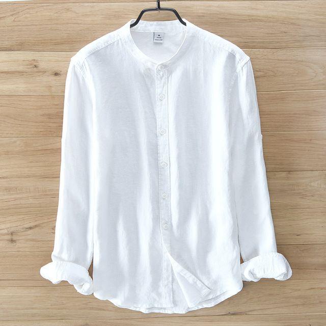 Italy Brand 100 Linen Shirts Men Long Sleeve Shirt Men Casual Summer Men Shirt Flax Fashion S Mens Long Sleeve Shirts Casual Linen Shirt Men Men Casual Summer