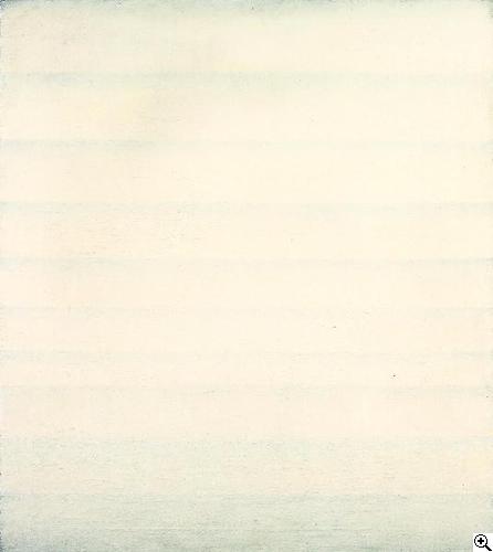 Raimund Girke:  Ohne Titel, 1964. Öl auf Leinwand. 90 x 80cm. Signiert, Ortsangabe und datiert auf der umgeschlagenen Leinwand verso oben links: GIRKE, HANNOVER 1964/10. Rahmen.
