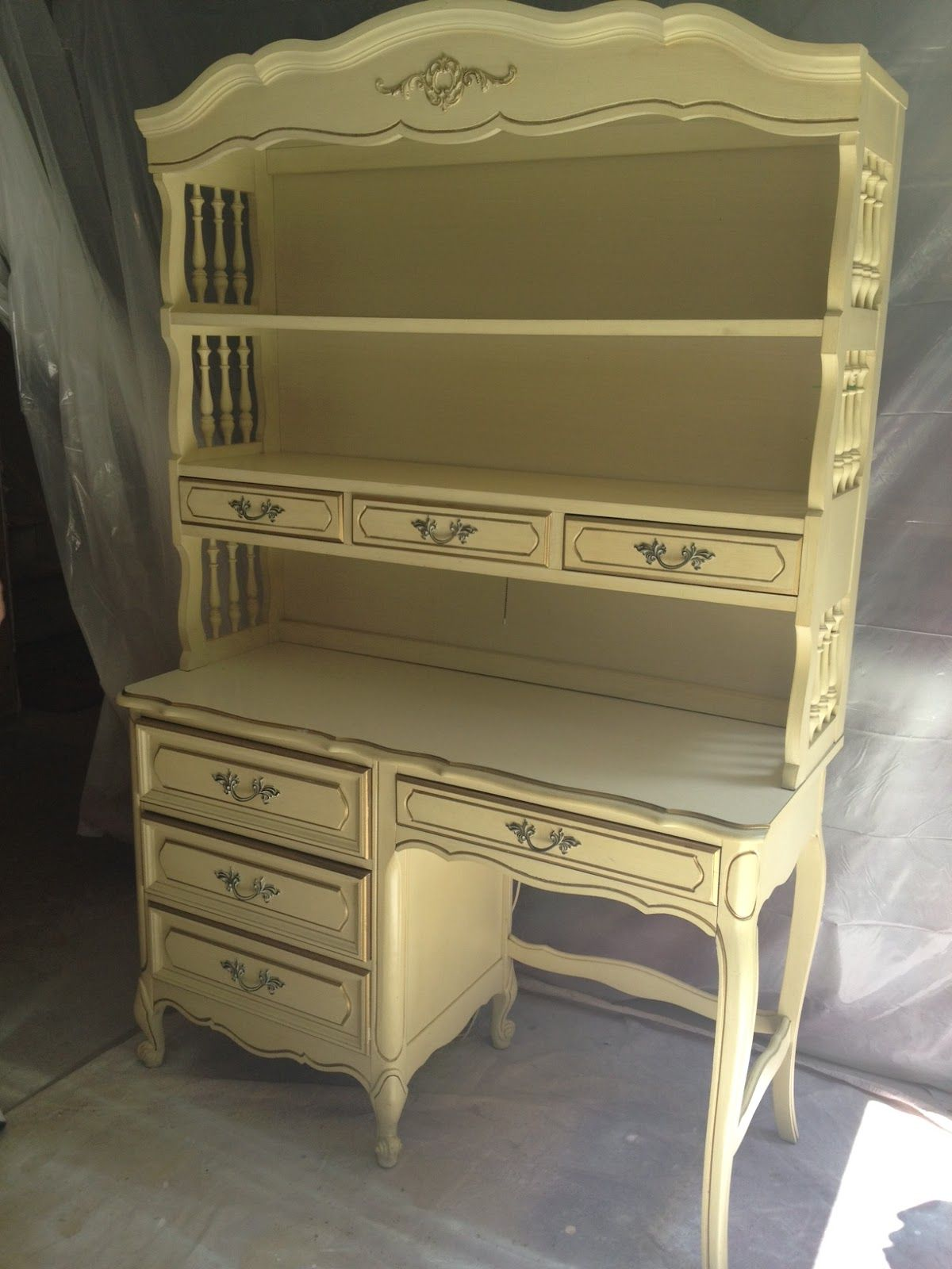French Provincial Desk | French Provincial Desk And Hutch...want This Style