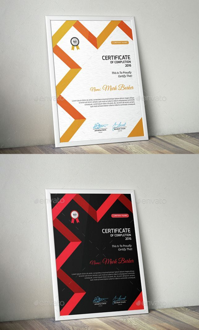 21 Awesome Certificate Templates in PSD MS Word Vector EPS Formats - certificates in word