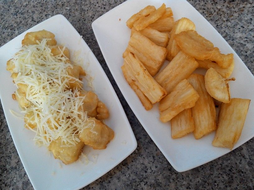 Fried Cassava Fried Banana With Cheese