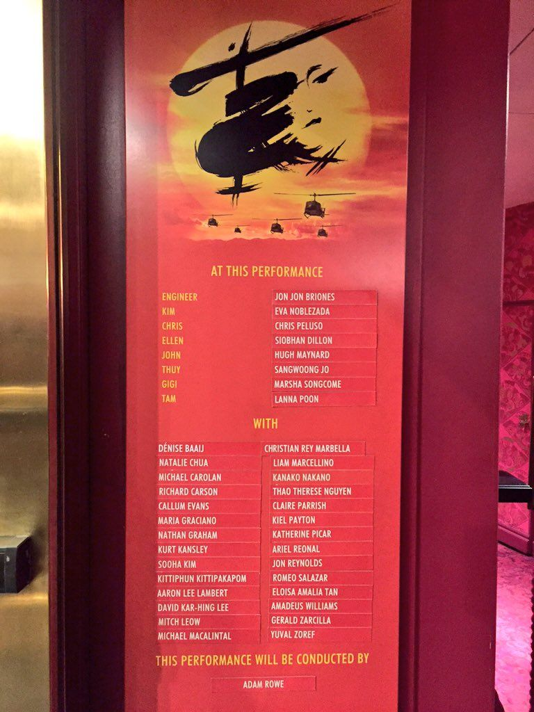 "Miss Saigon on Twitter: ""At tonight's 760th and final performance of #MissSaigon.  #GoodbyeLondon https://t.co/toa5nZJi9E"""