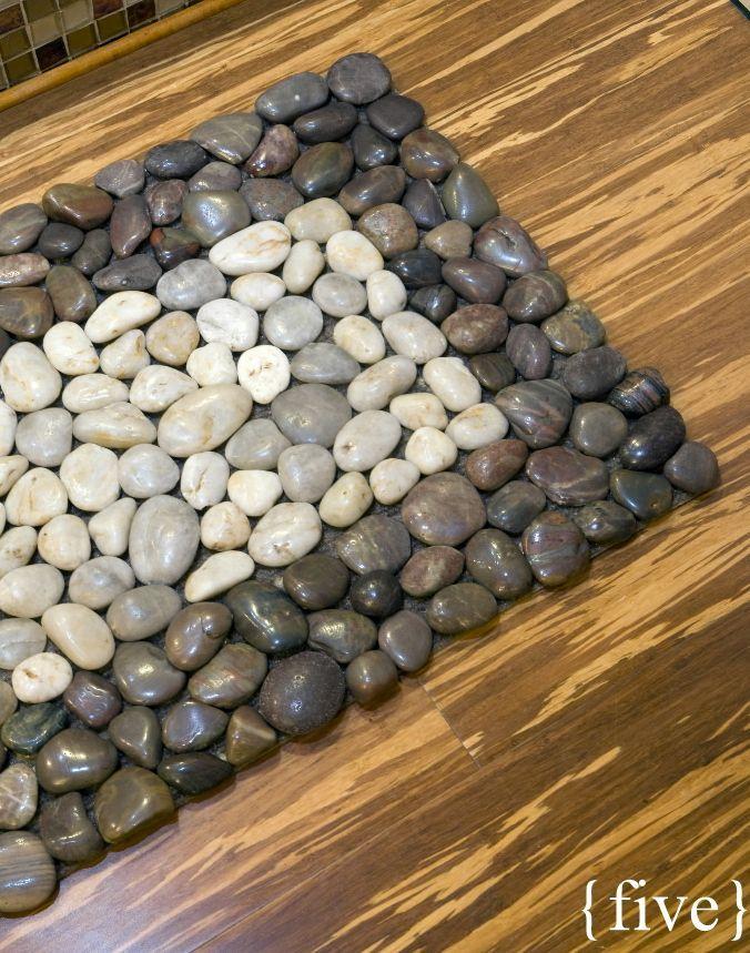 Creative Door Mats You Can Make Yourself Tuesday Ten Diy Welcome Mats Bystephanielynn Diy Stone Floor Diy Rug Stone Crafts
