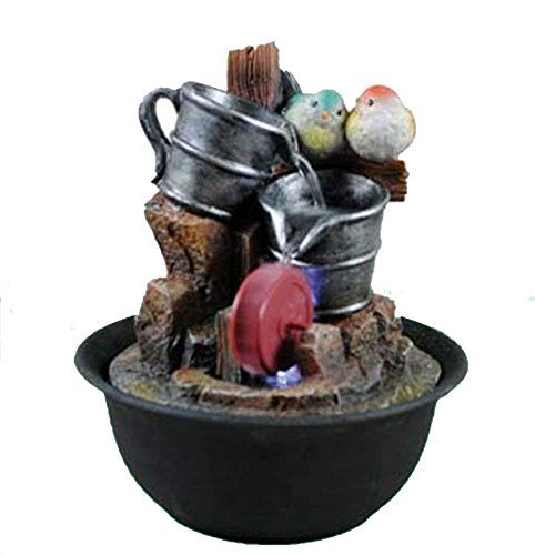 Indoor Tabletop Home Decor Water Fountain Decoration With Led