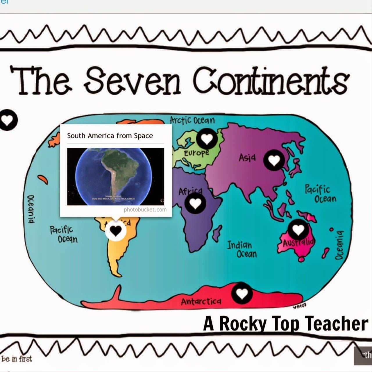 A Little Bit of Geography The Seven Continents interactive map