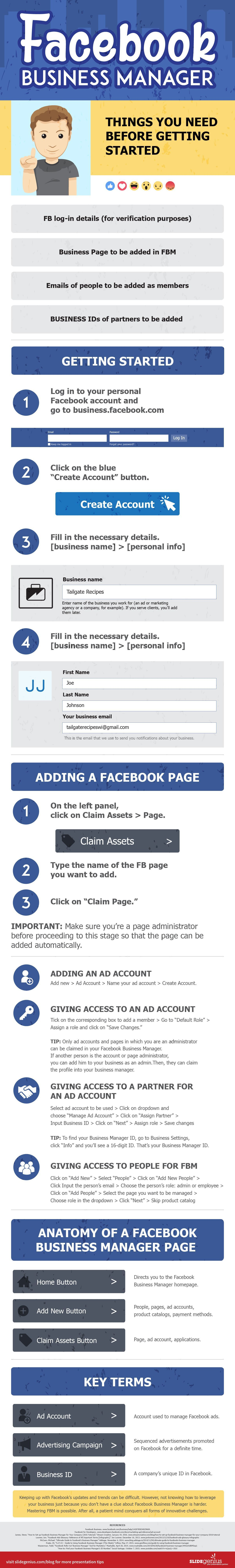 A Step-by-Step Guide to Facebook Business Manager - infographic ...