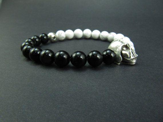 Star Wars Stretch Bracelet Agate/Onyx Sterling Silver DlJmW20