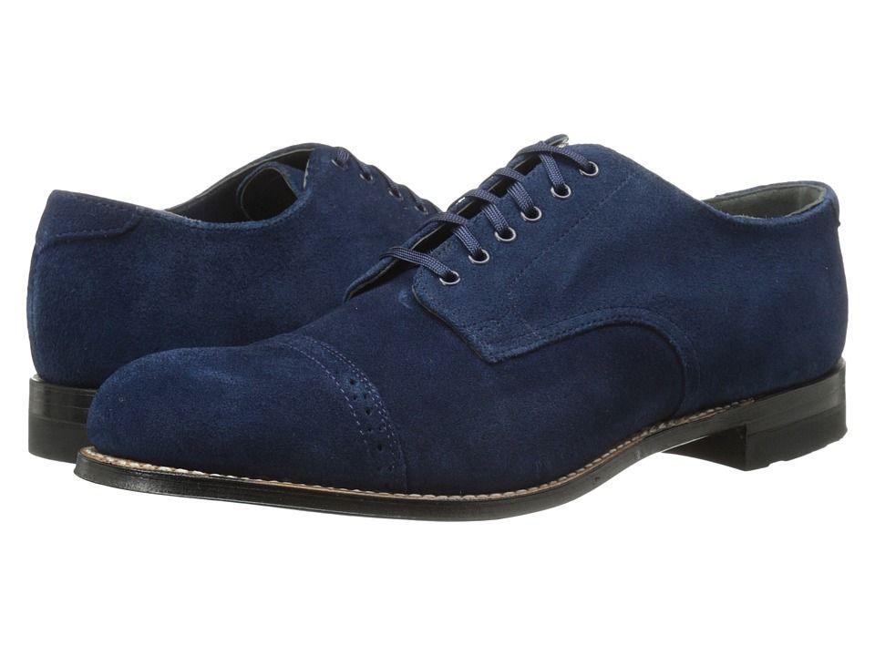 Handmade Men's Suede Lace Up Stylish Shoes, Men's Blue Cap